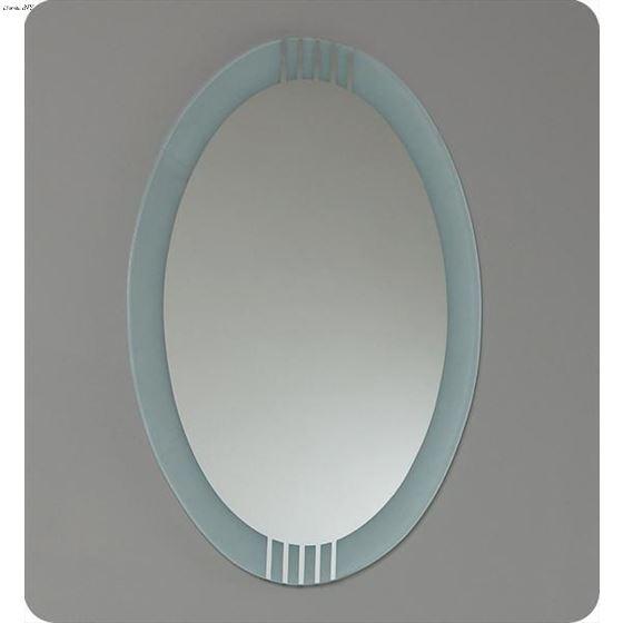 Fresca Ovale Modern Gl Bathroom Vanity W Frosted Edge