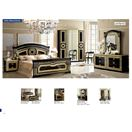 ESF _Aida Black with Gold King Bed