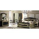 ESF_Aida Black w/ Gold 4 - Door Wardrobe