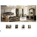 ESF_Aida Black w/ Gold Queen Bed Set