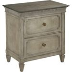 The Savona Collection AX Two Drawer Nightstand by