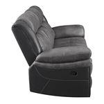 Saybrook Charcoal Tufted Cushion Reclining Sofa-5