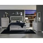 The Bevelle Collection Tufted Queen Bed in Set