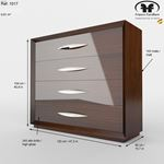 Carmen Walnut 4 Drawer Single Dresser by Franco-2