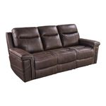 Wixom Brown Power Reclining Sofa With Power Head-2