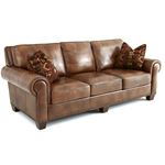 Silverado Caramel Brown Leather Sofa
