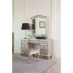 Bling Game Arched Top Vanity Mirror Metallic Pla-2