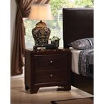 Conner Cappuccino 2 Drawer Nightstand 200422-2