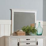 Franco Rectangular Mirror Antique White 205334-2