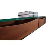 Ibiza Walnut Veneer w/ Glass Console Table - 4