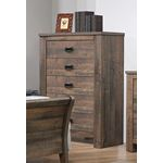 Frederick Weathered Oak 5 Drawer Chest 222965-2