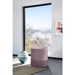 Teddy Pink Velvet Upholstered Ottoman/Stool - 2