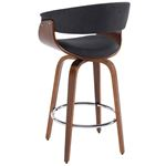 """Holt 26"""" Charcoal Grey Counter Stool 203-981 Back"""