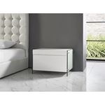 IL Vetro White Lacquer Nightstand / End Table - 4