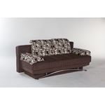 Fantasy Sofa Bed in Aristo Burgundy By Istikbal