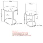 Oslo 2 - PC Accent Table 501-493WT - dimensions