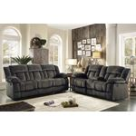 Laurelton Chocolate Reclining Loveseat 9636-2 in set