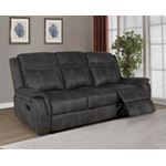 Lawrence Charcoal Performance Fabric Reclining S-2