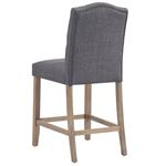 Lucian 26 Inch Grey Counter Stool 203-157 Back