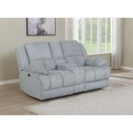 Waterbury Grey Power Reclining Loveseat with Con-2