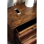 Avenue Weathered Burnished Brown 3 Drawer Nights-2
