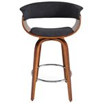 """Holt 26"""" Charcoal Grey Counter Stool 203-981 Front"""
