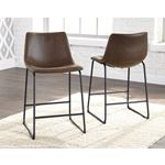 Centiar Brown Upholstered Counter Stool D372-124-2