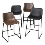 Centiar Brown Upholstered Counter Stool D372-124-4