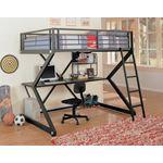 Coaster Parkview Full Workstation Loft Bed Black