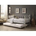 Lorena White Metal Daybed with Trundle 4965W-NT-2