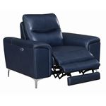 Largo Ink Blue Leather Power Reclining Chair 603-2