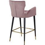 Luxe Pink Velvet Bar/Counter Stool - 2
