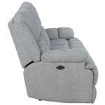 Waterbury Grey Power Recliner Sofa with Drop Dow-4