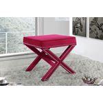 Nixon Pink Velvet Upholstered Ottoman/Bench - 2