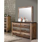 Sembene Antique Multi-Color Rectangular Mirror 2-4
