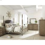 The Corinne Poster Bed in Acacia Finish inroom