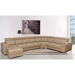 Modern 8312 Caramel Leather Sectional Detail