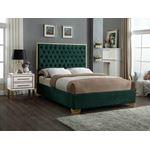 Lana Green Velvet Upholstered Tufted Platform Bed