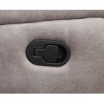 Lawrence Taupe Fabric Reclining Loveseat with Co-4
