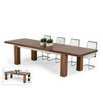 Modrest Maxi Modern Walnut Dining Table Set