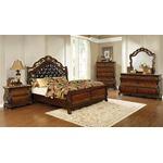 Exeter King Tufted Upholstered Sleigh Bed in Dar-2