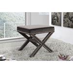Nixon Grey Velvet Upholstered Ottoman/Bench - 2