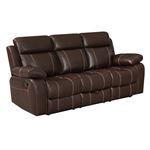 Myleene Chestnut Recliner Sofa with Drop Down Ta-2