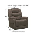 Ashley Ballister Recliner Dimensions