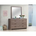 Brantford Barrel Oak Square Dresser Mirror 20704-2