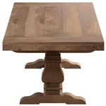 Florence Double Pedestal Trestle Dining Table 180201 Side