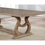 Brockway Cove Barley Brown Trestle Dining Table 110291 by Coaster Base