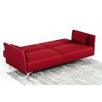 Davenport red Sofa Open