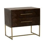 Mosaic 2 Drawer Night Stand in Rustic Java Side