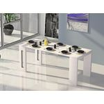Erika Extendable White Console/Dining Table - 4
